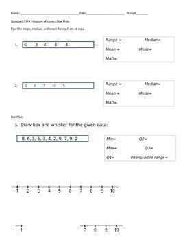 Measure of center/boxplots