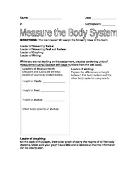 Measure the Body Systems Poster Project