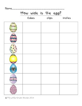 Measure the Eggs-height and width measurement with Kindergarten