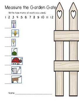 Measure the Garden Gate (nonstandard measurement) plants, insects