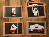 Measure the Ghosts with Unifix Cubes - Nonstandard Measurement Halloween 8 cards