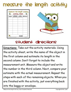 Measure the Length Activity