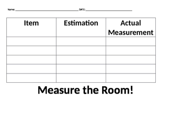 Measure the Room Estimation Practice