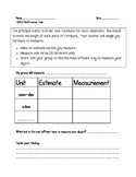 Measure the Room- Performance Task for 1st graders