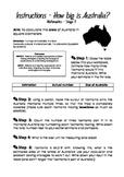 Measure the area of Australia - Task Card