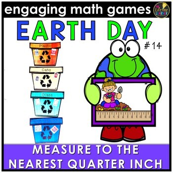 Measure to Nearest Quarter Inch Game April Math Center