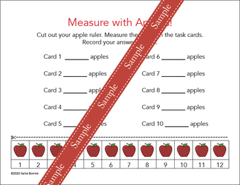 Measure with Apples for Kindergarten and First Grade