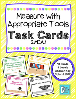 Measure with Appropriate Tools Task Cards