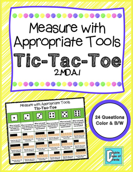 Measure with Appropriate Tools Tic-Tac-Toe Game