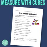 Measure with Cubes, Printable Worksheet for Centers