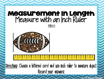 Measurement: Measure with Inch Ruler Center - GO MATH! Chapter 8