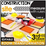 Measure with Rulers  - Construction Real World Math Activity