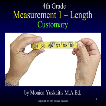 4th Grade Measurement 1 Customary Length Inches Feet Powerpoint