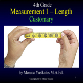 4th Grade Measurement 1 - Customary Length (inches, feet) Powerpoint Lesson