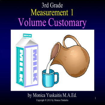 Common Core 3rd - Measurement 1 - Customary Volume