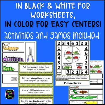 Measurement Worksheets {First Grade & Kindergarten Non-Standard Activities}