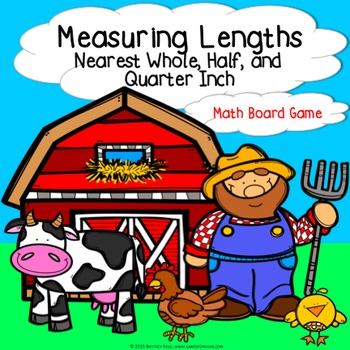 Measurement Game: Measuring Lengths to the Whole, Half, and Quarter Inch 3.MD.4
