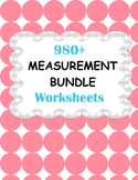 Measurement Worksheets Bundle