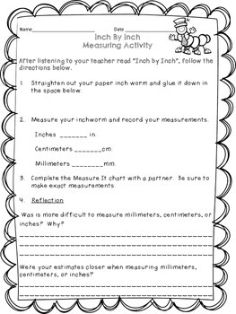 Inch By Inch Measurement Activity