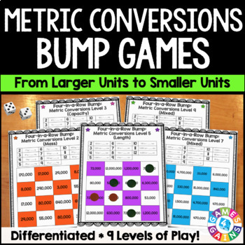 Metric Measurement Conversion Games for Length, Mass, and