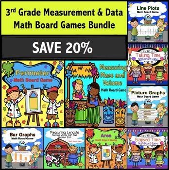 3rd Grade Measurement and Data Games Bundle
