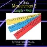 4th Grade Measurement 2 - Metric Length (millimeter, centimeter) Lesson