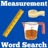 Measurement Worksheet Wordsearch