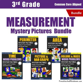 Measurement Word Problems, Mystery Pictures