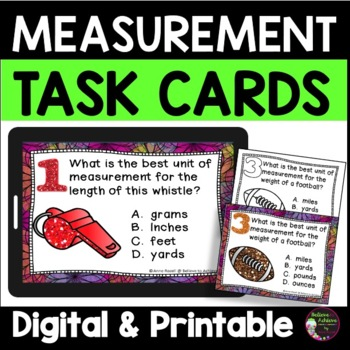 Measurement - Which unit of measurement is best? (24 Task Cards)