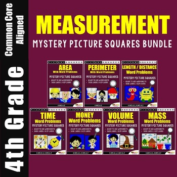Measurement Word Problems / Mystery Pictures Measurement Activities