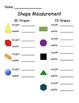Measurement 2D and 3D Shapes