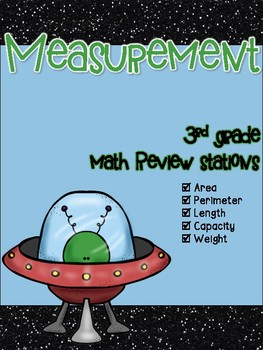 Measurement 3rd Grade Math Review Stations