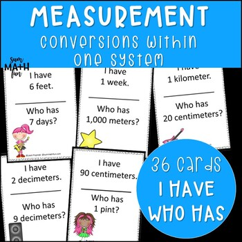 Measurement Activities I Have Who Has Game