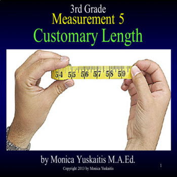 Common Core 3rd - Measurement 5 - Customary Length