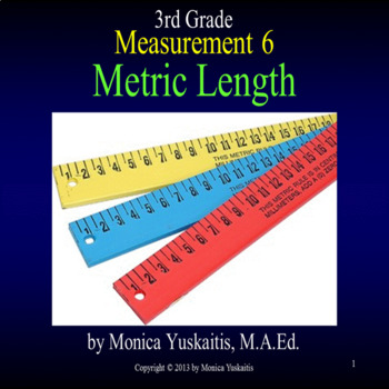 Common Core 3rd - Measurement 6 - Metric Length
