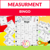 Measurement Abbreviations BINGO for Math or Cooking