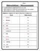 Measurement Abbreviations Worksheet Customary & Metric Measurements Worksheet #3