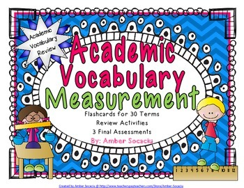 Measurement Academic Vocabulary Practice and Assessments f