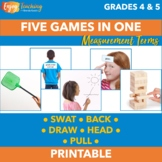 Measurement Activities - Five Math Vocabulary Games in One