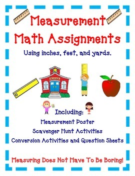 Measurement Activities - Inches, Feet, Yards