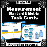 Standard & Metric Measurement Task Cards 4th Grade Math Center Games SCOOT
