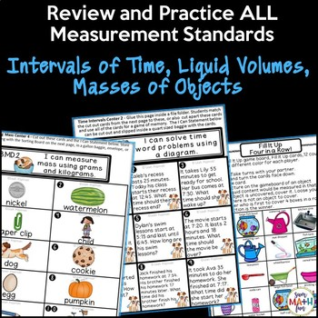 Measurement Activities Third Grade: Time, Capacity, Mass
