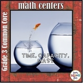 Elapsed Time, Telling Time, Capacity, Mass - Measurement Activities