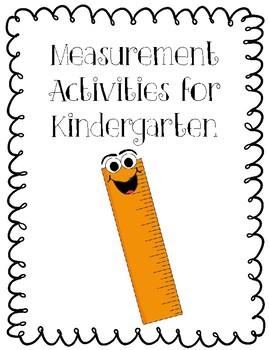 Measurement Activities for Kindergarten by Kindergarten Moos | TpT