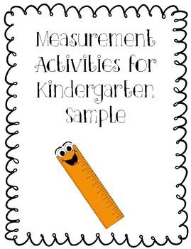 Measurement Activities for Kindergarten (Sample)