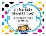 Measurement Activity- Which Unit Would You Use?  Inches, Feet, Yards, or Miles