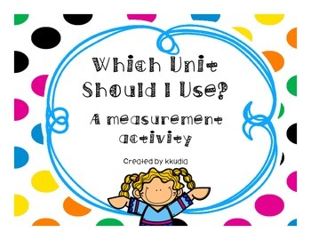 Measurement Activity- Which Unit Would You Use?  Inches, F