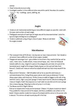 Measurement Activity Booklet