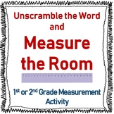 Measurement Activity - Unscramble the Word and Measure in