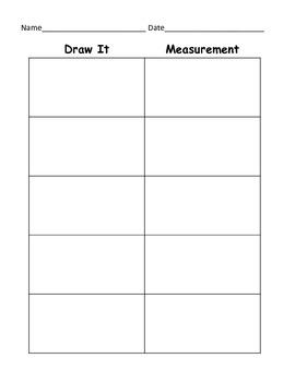 Measurement Activity or Center